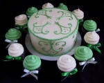 green bridal shower