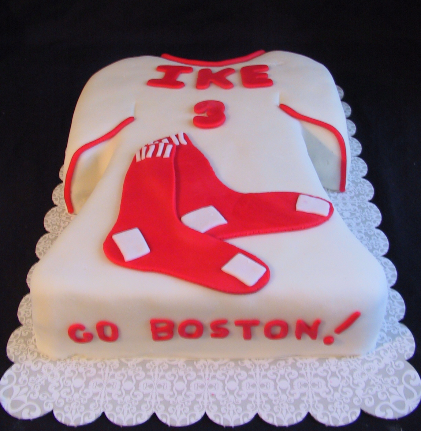Fondant Boston Red Sox Birthday Cake Bardstown Ky The Twisted