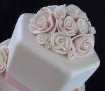 rolled rose pink topper