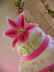 whisical hot pink lilly topper